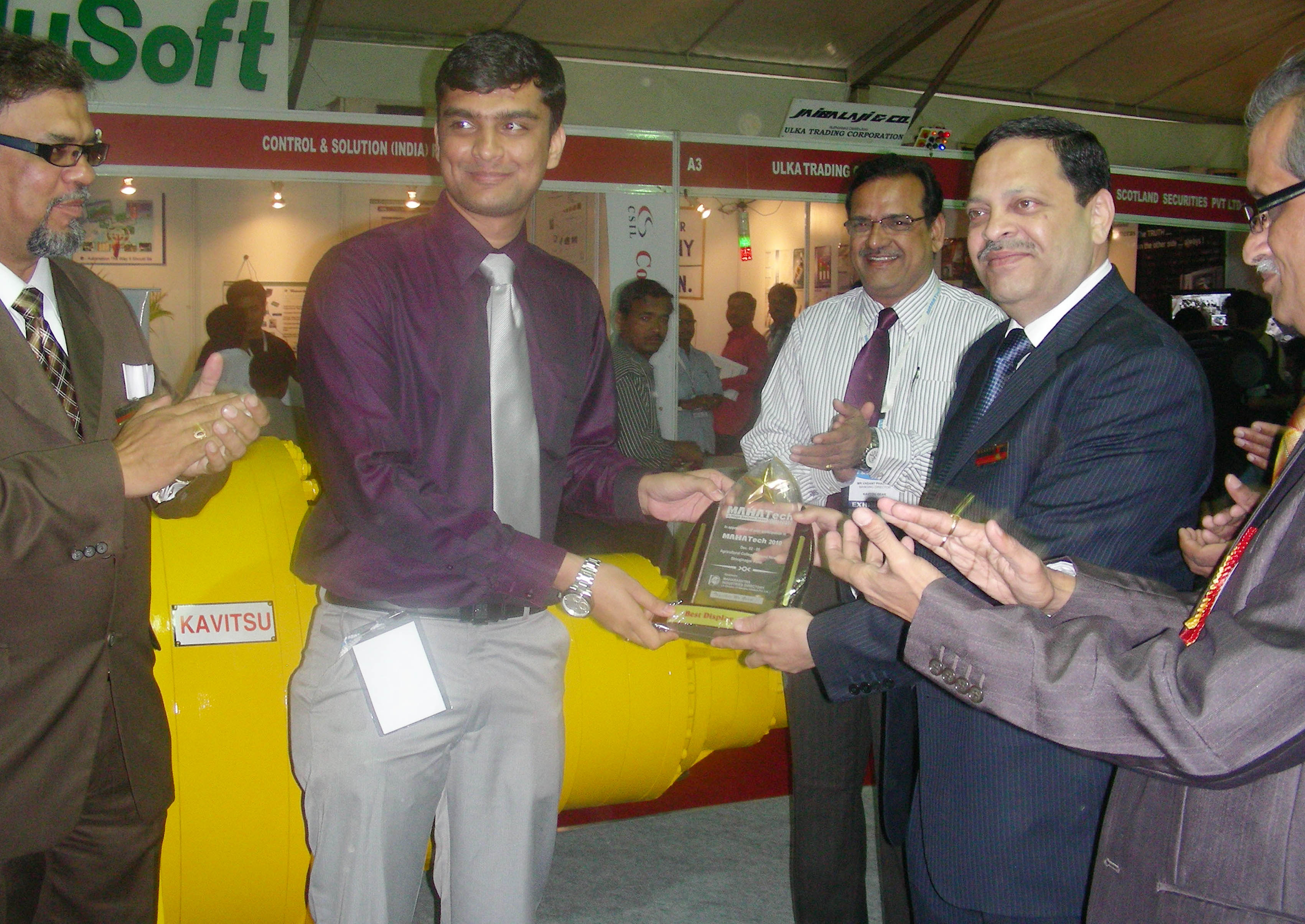 First Best Display Award in Mahatech 2010 Exhibition (08/12/2010)